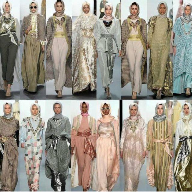 Koleksi yang ditampilkan Anniesa Hasibuan di New York Fashion Week.