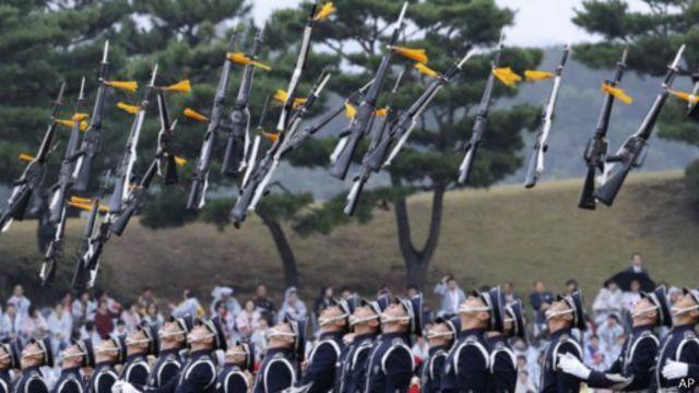 10月1日是韓國的「軍人節」。