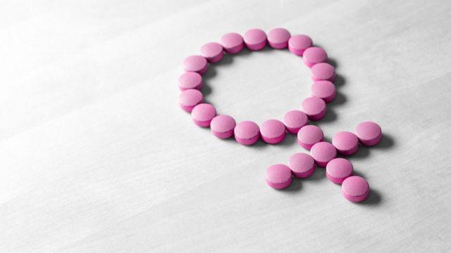 Pink HRT pills