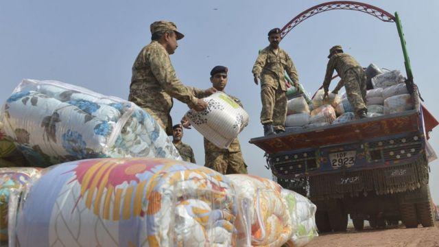 پاکستان فوج کی زلزلے کے بعد امدادی کارروائیاں( فائل فوٹو)