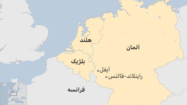 نقشه آلمان