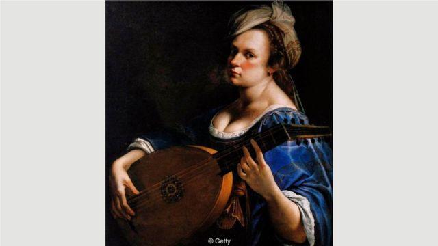 阿尔泰米西娅·真蒂莱斯基很早就展现出艺术天赋——这幅作品的是她的《琵琶演奏者自画像》,创作于1615年至1618年左右。