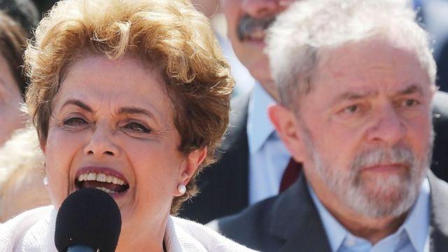 Dilma Rousseff and Lula da Silva in 2016