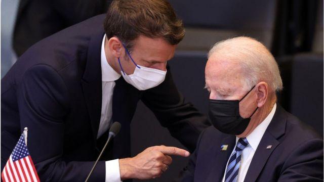 Macron and Biden at Nato summit