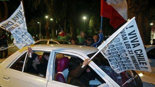 Resgate é comemorado no Chile