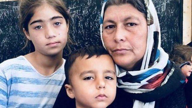 Familia de refugiados