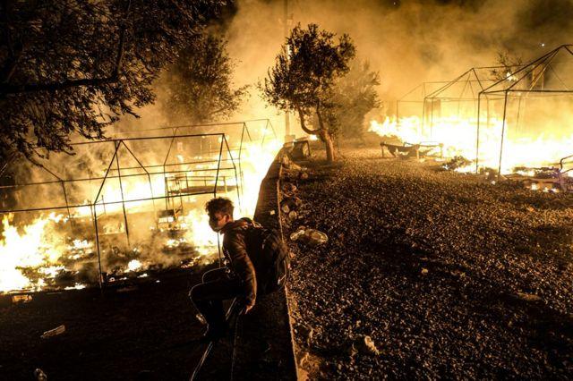 Incendio del campamento