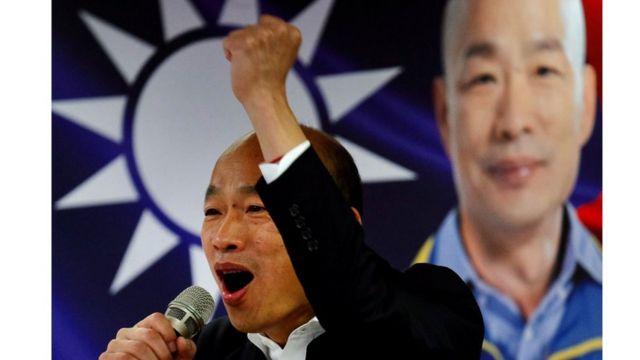 Ông Hàn Quốc Du, thuộc Quốc Dân Đàng, đối thủ chính của bà Thái Anh Văn trong cuộc đua tranh cử vào ngày 11/1 tới