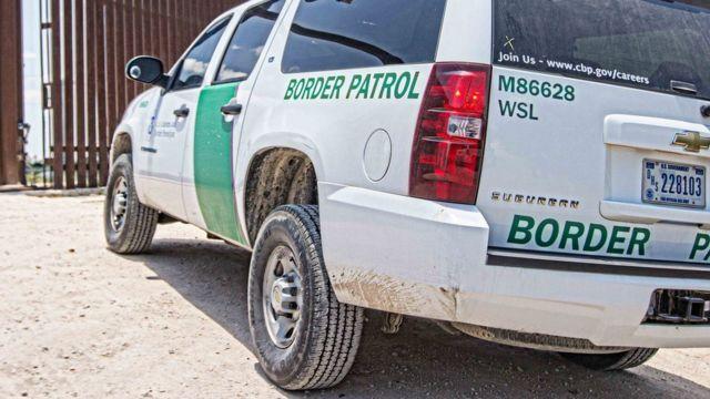 A Border Patrol car