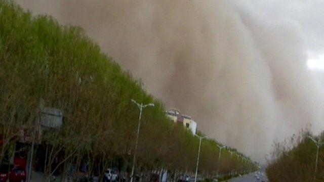 Sandstorm in China