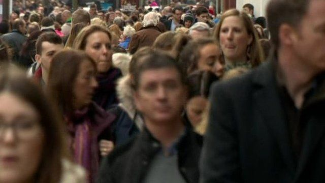 Christmas shoppers in Belfast