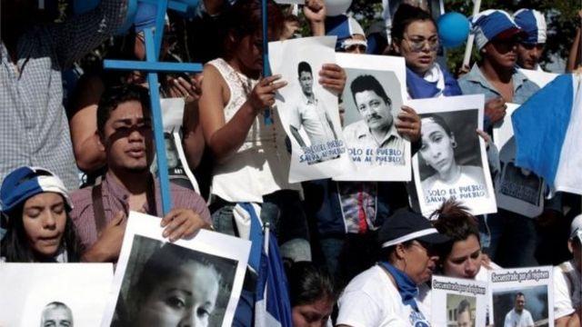 Manifestación pidiendo la liberación de presos políticos