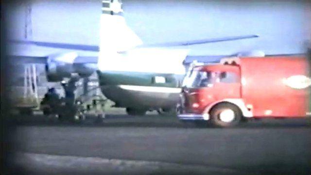 A flight at Edinburgh Airport in 1965