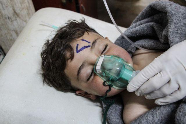 Numerosos niños tuvieron que ser atendidos tras el ataque.