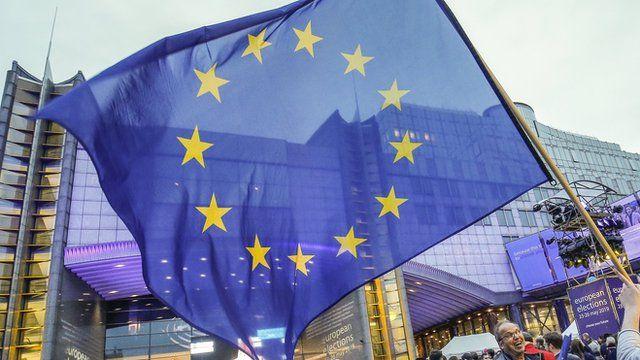 European Union flag being waved