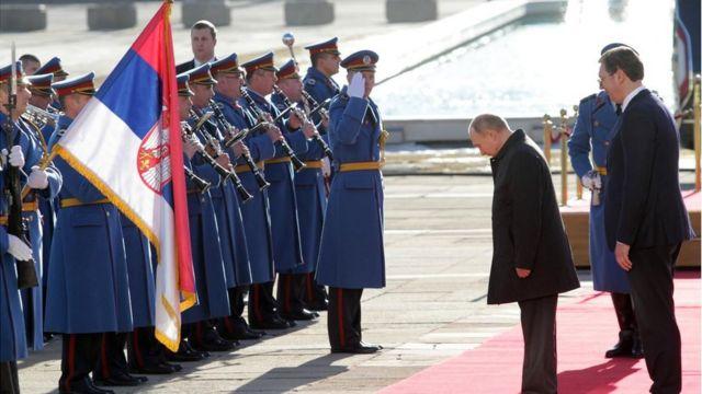 Вучић и Путин, Београд, 17. јануар 2019.