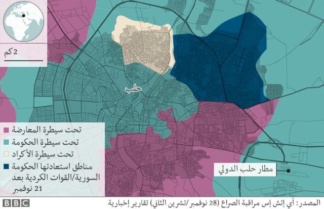 خريطة حلب