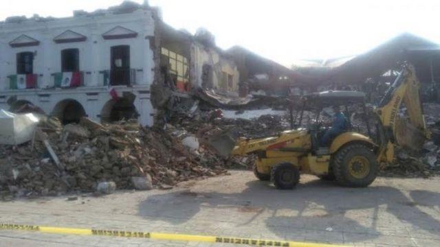 Un edificio derruido en Chiapas
