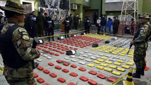 Cocaína incautada en Bolivia