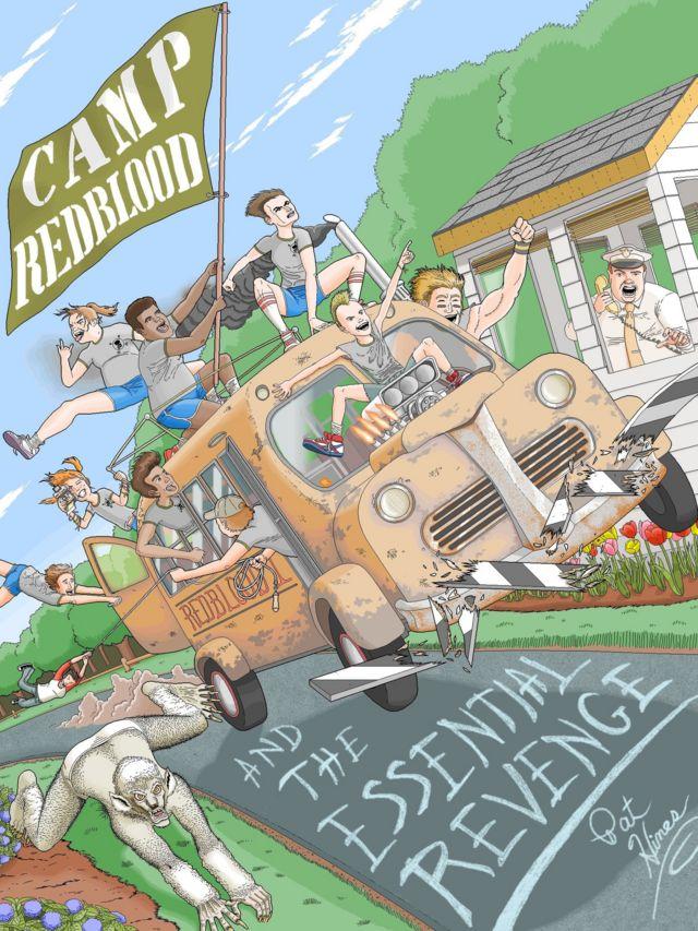 Pat'in e-kitabı Camp Redblood and Essential Revenge (Kızılkan Kampı ve Esas İntikam) birbirine rakip iki yaz kampı arasındaki düşmanlığı anlatıyor