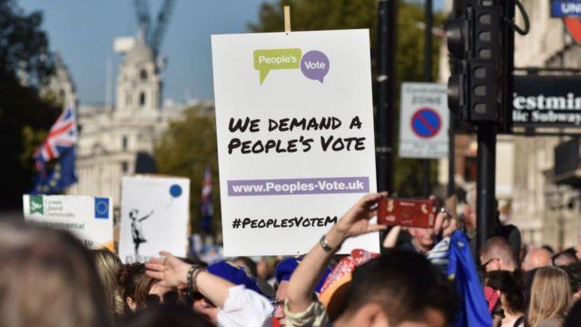 Pristalice novog referenduma na protestu u Londonu