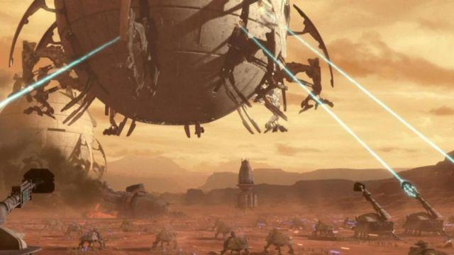 """Una escena de """"La guerra de los clones"""""""