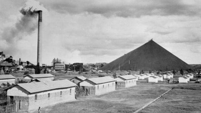 Une mine d'or exploitée par les Belges dans le Katanga