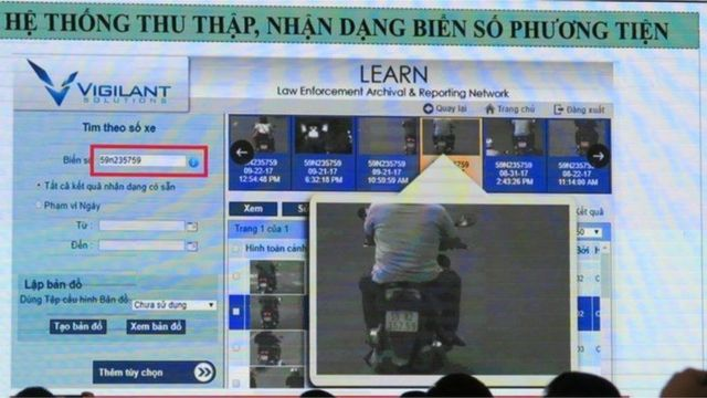 Hình ảnh hệ thống theo dõi, giám sát, nhận diện khuôn mặt và biển số xe