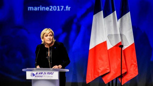 Marine Le Pen pronuncia un discurso