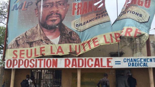 Ofishin 'yan adawa da aka kona a Kinshasa