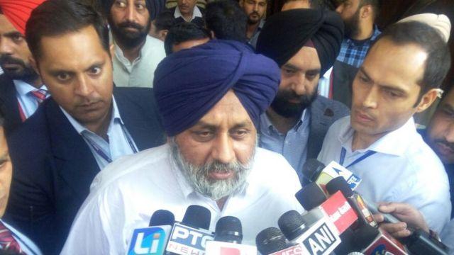 पंजाब के उपमुख्यमंत्री सुखबीर सिंह बादल