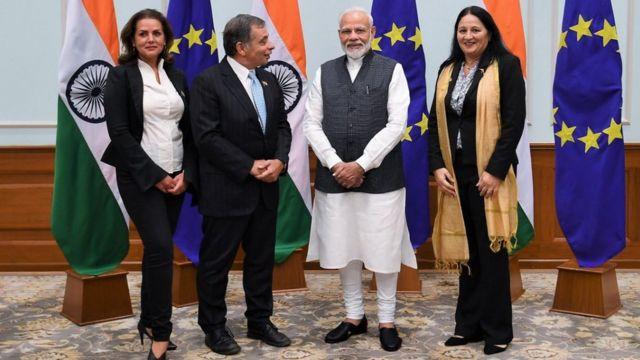 नरेंद्र मोदी के साथ माडी शर्मा और प्रतिनिधिमंडल में शामिल लोग