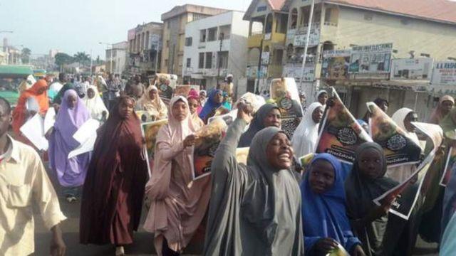 Une procession de musulmans chiites, à l'occasion de l'Achoura, au Nigeria