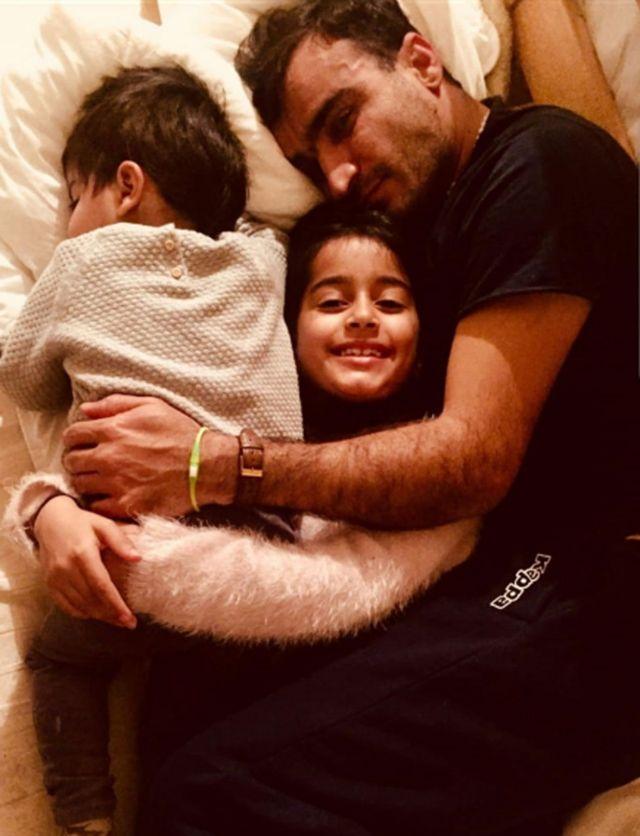 Bahador and his children, Brinyamin and Maryam