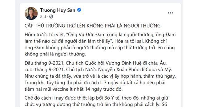 Bài của blogger Trương Huy San