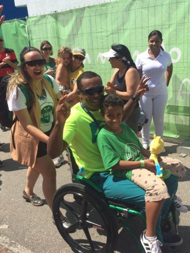 Renê Pereira e sua família