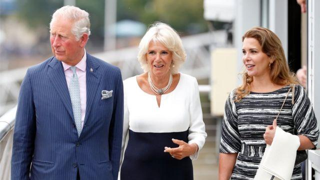 принцесса Хайя с принцем Чарльзом и герцогиней Корнуольской