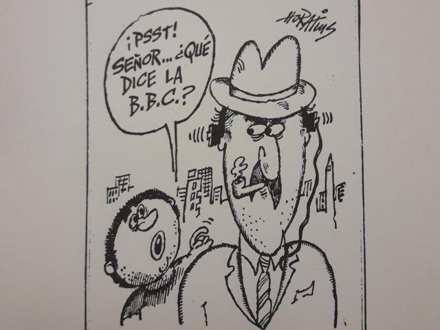 Caricatura de Horatius sobre la BBC