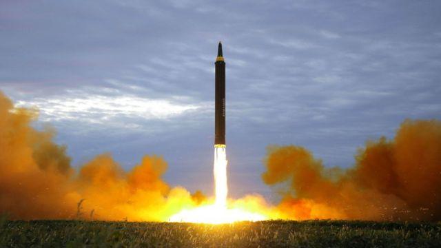 صاروخ أطلقته كوريا الشمالية