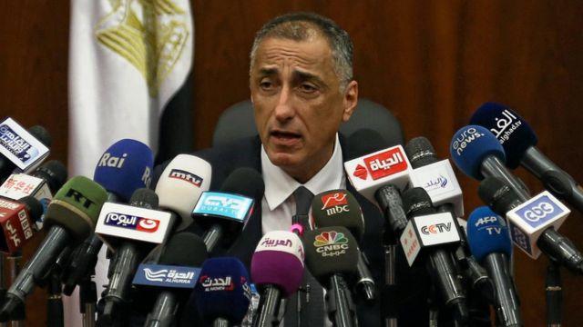 محافظ البنك المركزي المصري طارق عامر في مؤتمر صحفي