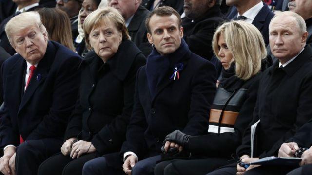 Путин, Меркель, Трамп