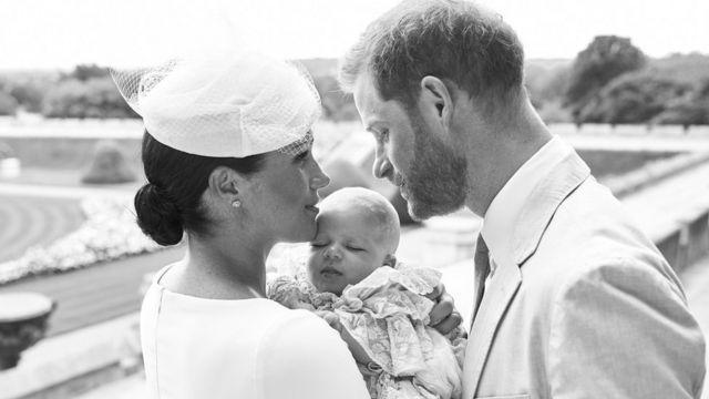 Хрещення сина Гаррі та Меган