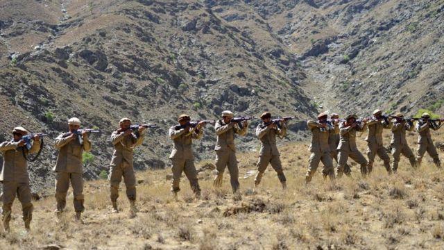 Бойцы сопротивления в провинции Панджшер 2 сеньября 2021 года