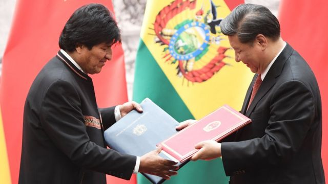 Evo Morales y Xi Jinping