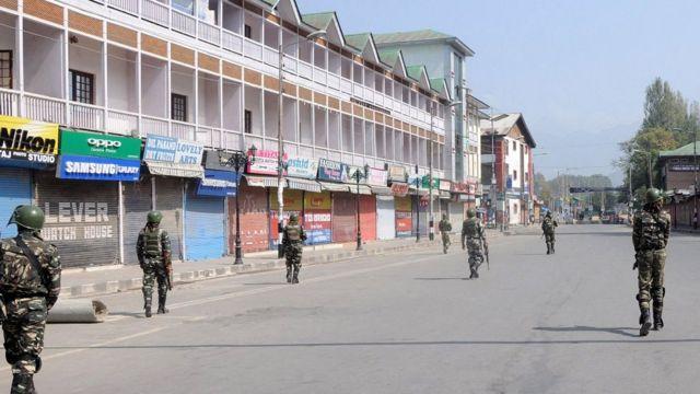 भारत प्रशासित कश्मीर में बंद