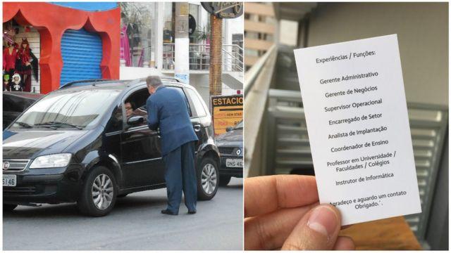 Jair da Silva em busca de emprego na capital paulista