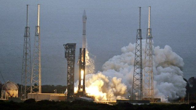 A United Launch Alliance Atlas V rocket lifts off from launch complex 41 at the Cape Canaveral Air Force Station