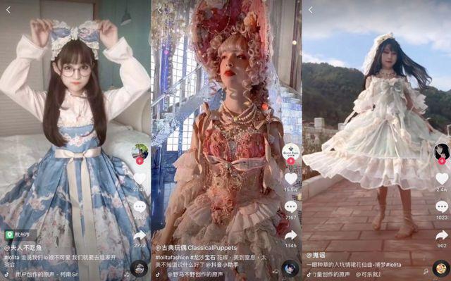 中國視頻應用抖音上有大量「Lo娘」博主。
