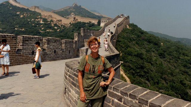 Jonna Mendez na Muralha da China
