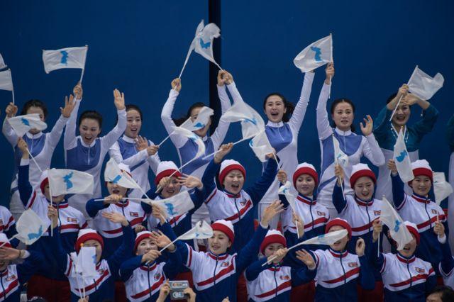 Aficionadas norcoreanas